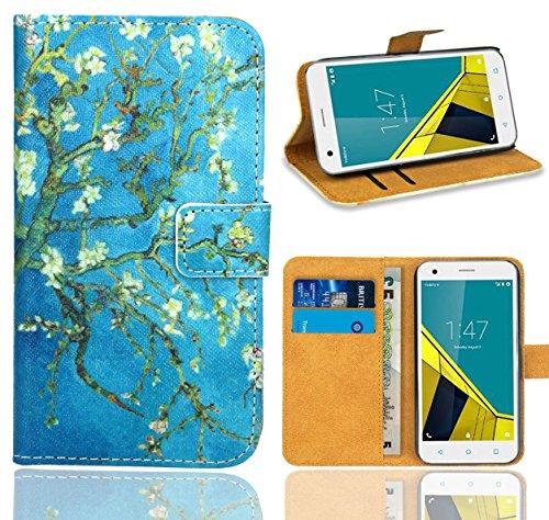 Vodafone Smart Ultra 6 Handy Tasche, FoneExpert® Wallet Hülle Flip Cover Hüllen Etui Ledertasche Lederhülle Premium Schutzhülle für Vodafone Smart Ultra 6 (Pattern 8)