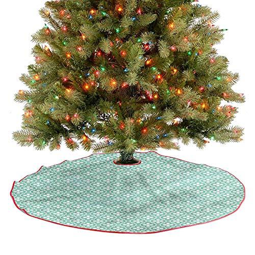 Faldón de árbol de trébol de figuras celtas de Año Nuevo Suministro para fiestas de Navidad Decoración de fiesta de Navidad Diámetro – 36 pulgadas