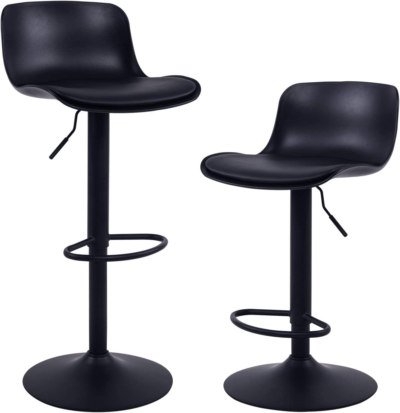 YOUNIKE Furniture Modern Design BarStools with Adjustable Height and 9°  Rotation, Ergonomic Streamlined Polypropylene High Bar stools for Bar ...