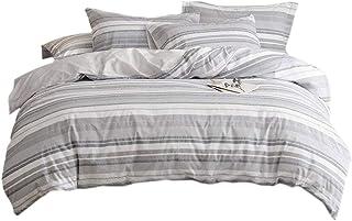 Umi. 100% Coton Teint Housse de Couette, Multicolore, 135x200+1x80x80cm