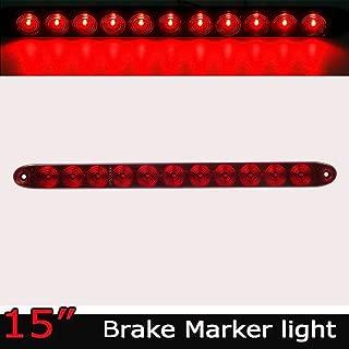 Duokon 5 LED 12V Feu Stop LED Arri/ère Universel de Troisi/ème sur la Troisi/ème Voiture de Montage Universel rouge