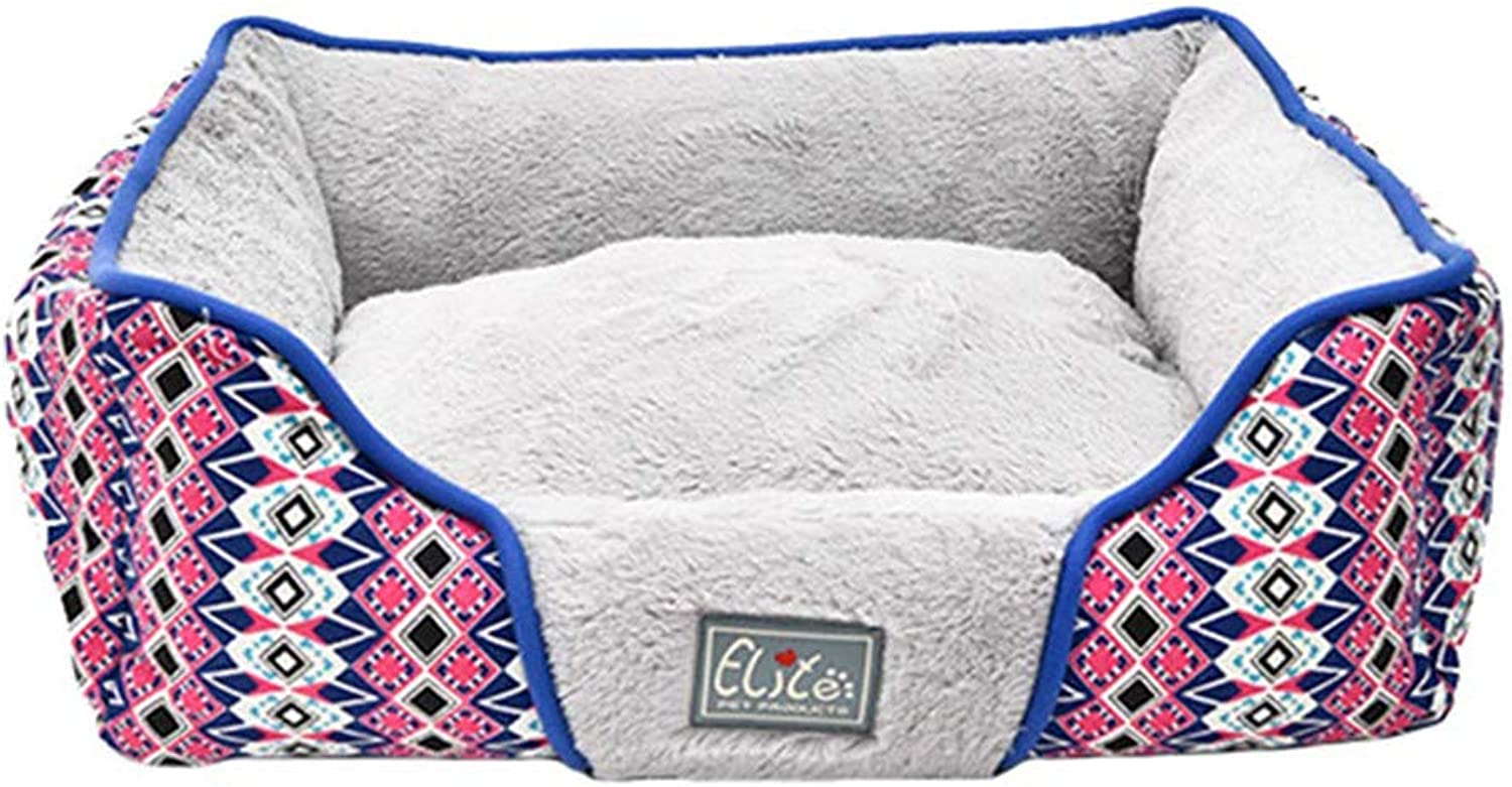 Deluxe Dog Bed Soft Washable Detachable Reversible Basket Bed Cushion with Cotton Velvet Lining