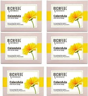 Richfeel Calendula Anti Acne Soap, 75 g (Pack of 6)