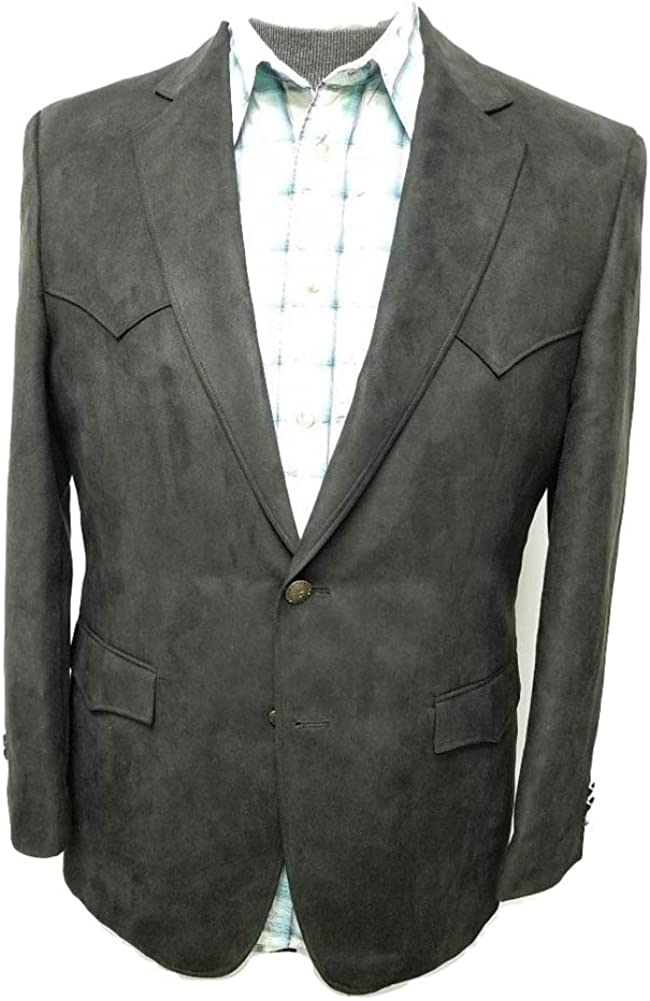 Regular and Big and Tall Classic Microsuede Soft Touch Western Blazer to Size 56 in Short, Regular, and Long Sizes