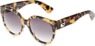 نظارات شمسية باطار كبير وعدسات رمادية للنساء من موسكينو - MOS013/S SCL9O (MOS013/S SCL9O رمادي)