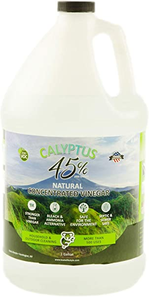 Calyptus 45 Pure Vinegar 9x Stronger Than Vinegar 100 Natural Concentrated Cleaner Home Outdoor And Garden Use 450 Grain Industrial Strength Bleach And Ammonia Alternative 1 Gallon