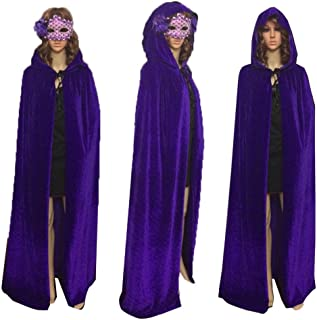 Unisex Hooded Cloak Role Play Costume Halloween Party Cape