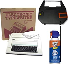 Nakajima Electronic Typewriter WPT-150 with Correct Film Ribbon and Blow Off Air Duster Bundle