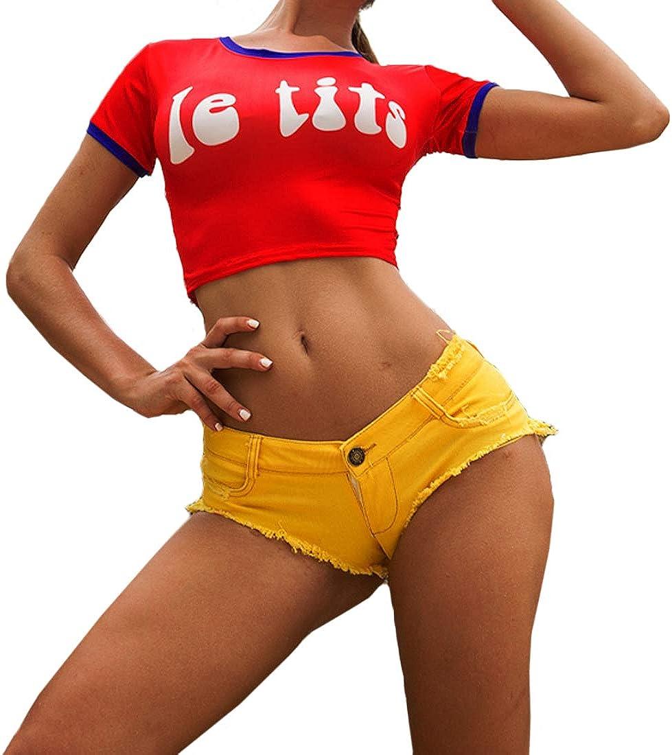 Huicai Women's Denim Shorts Stretchy Comfy Girls Ladies Short Shorts