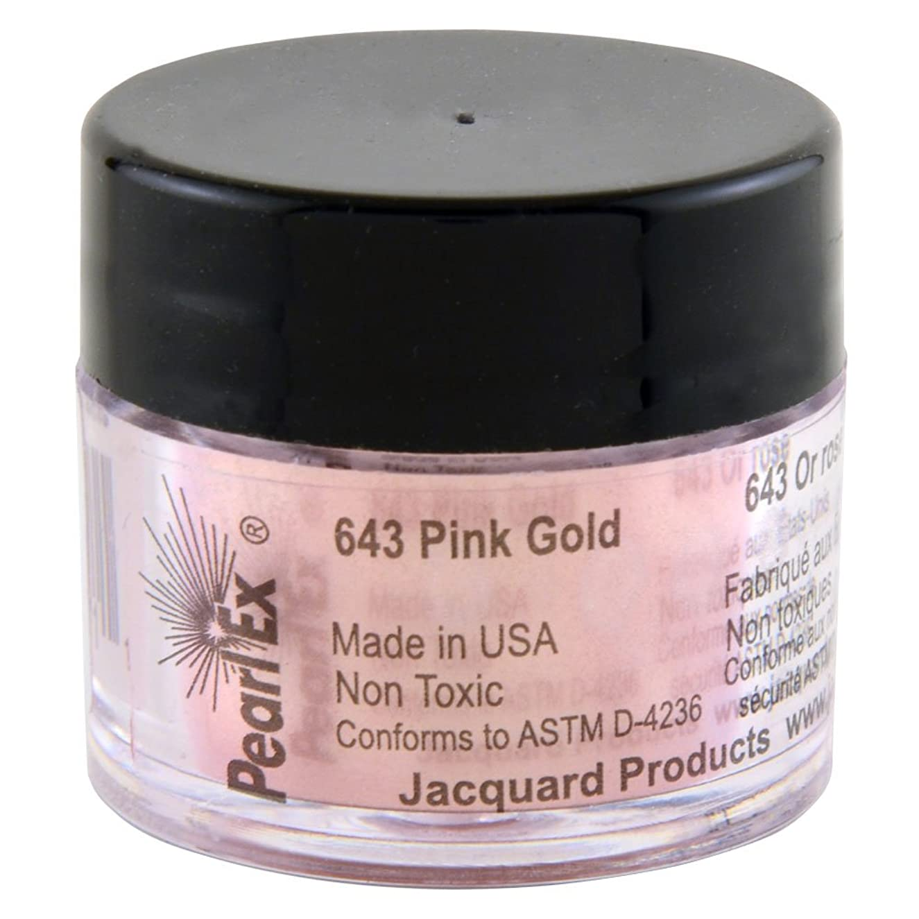 Jacquard Products Pearl Ex Powdered Pigments, 3 Grams: Pink Gold