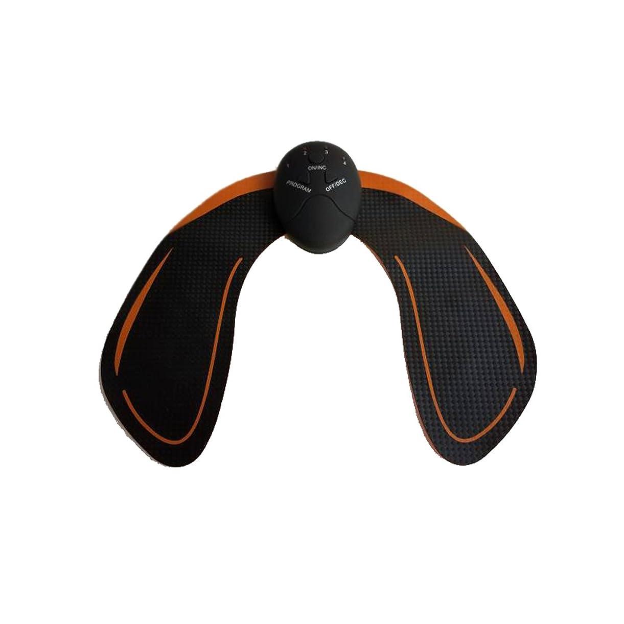 パフ背の高いダイヤモンドHealifty EMS トレーニングパッド ヒップアップ お尻専用 多機能 筋トレ器具 ダイエット 筋肉振動 引き締める 強さ階段調節 電池式 男女兼用(黒)