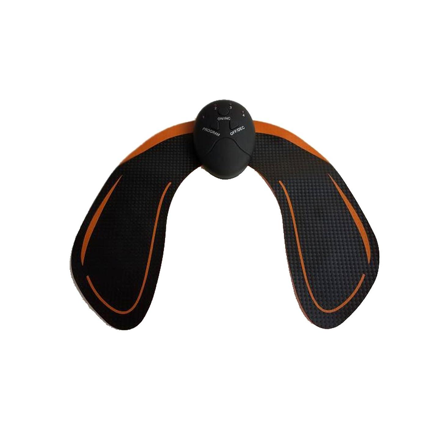 原理ちっちゃいおなじみのHealifty EMS トレーニングパッド ヒップアップ お尻専用 多機能 筋トレ器具 ダイエット 筋肉振動 引き締める 強さ階段調節 電池式 男女兼用(黒)