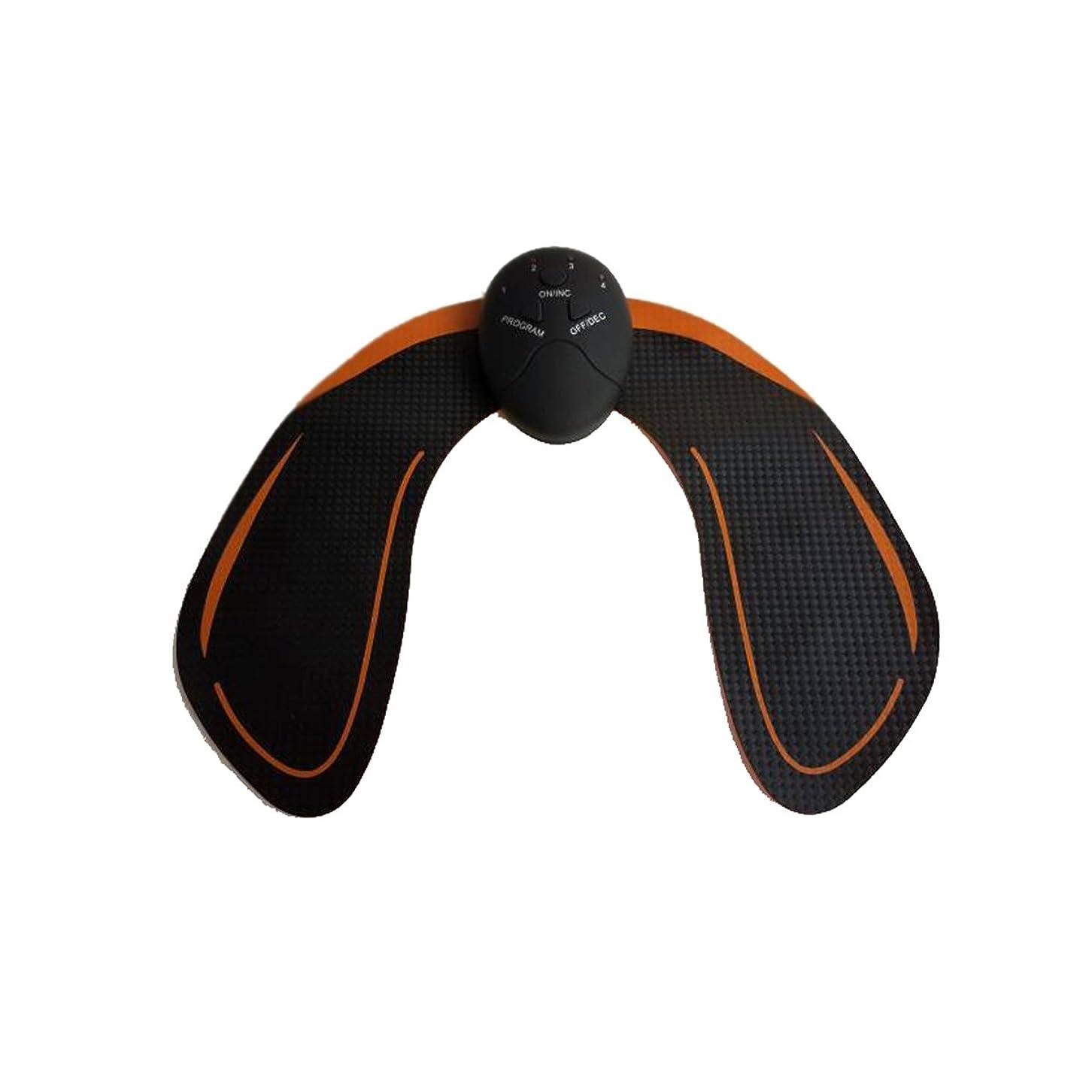 ワイヤーバルクつなぐHealifty EMS トレーニングパッド ヒップアップ お尻専用 多機能 筋トレ器具 ダイエット 筋肉振動 引き締める 強さ階段調節 電池式 男女兼用(黒)