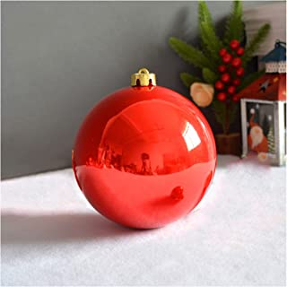 Christmas Baubles, Shatterproof Resistant Plastic Christmas Ball, Red Decorative Hanging Ball Ornaments, Strong and Durabl...