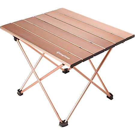 Rock Cloud Portable Camping Table Ultralight Aluminum Camp Table Folding Beach Table for Camping Hiking Backpacking Outdoor Picnic Green