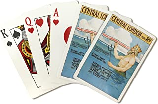 Central London Underground Railway - The Tube - Vintage Advertisement (Playing Card Deck - 52 Card Poker Size with Jokers)
