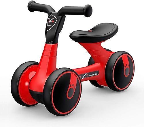 Kinder drehen Auto 135 Grad Sicherheitsecke beGrünzt humanisierten Design Roller zur Erh ng der Allrad-Balance Auto (55  16  39,5cm) (Farbe   Kumamoto rot)