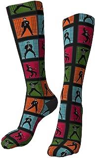 RROOT, Calcetines de Elvis Presley Jailhouse Rock Crazy Funny Dress Socks para hombres y mujeres