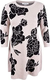 Womens Floral Print 3/4 Sleeves Sweaterdress