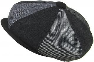 Made in USA Wool Patchwork 8/4 Gatsby Cap Woolrich Apple Jack Newsboy