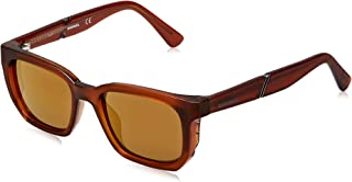 نظارات شمسية للبالغين من الجنسين من ديزل - برتقالي (برتقالي، عدسات بنية عاكسة)، مقاس 130 ملم -DL0257 43G 47
