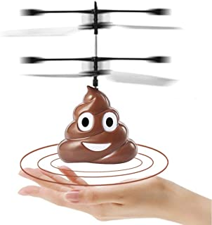 Children's Hovering Toy,Flying Toys Hovering Emoji Poop Copter, Boys Girls Toys Funny Gifts, Rechargeable Infrared Induction Helicopter Drone, Indoor and Outdoor Games for Kids