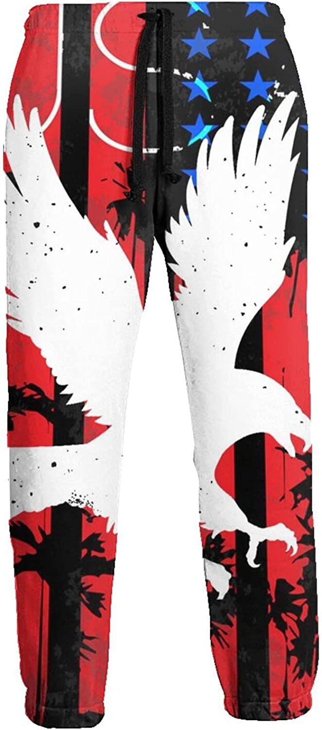 Active Sweats Jogger Pants American Flag White Eagle Running Joggers Casual Sweatpants for Men Women