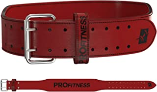 ProFitness Genuine Leather Weight Lifting Belt | Proper Weightlifting Form for Squats, Deadlfits, Powerlifting & Cross Training