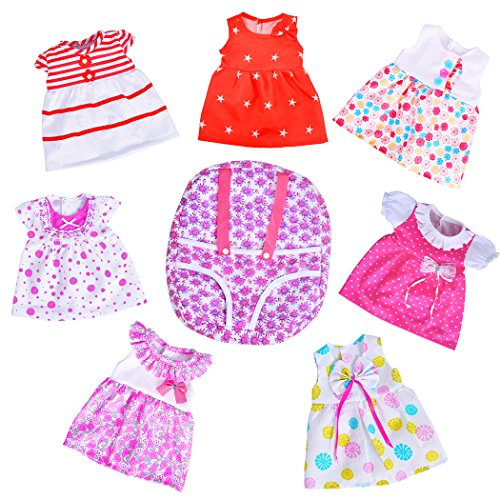 ebuddy doll Clothes -Include 7 Sets Dolls Clothes +1 Bags for 14-16 inch...