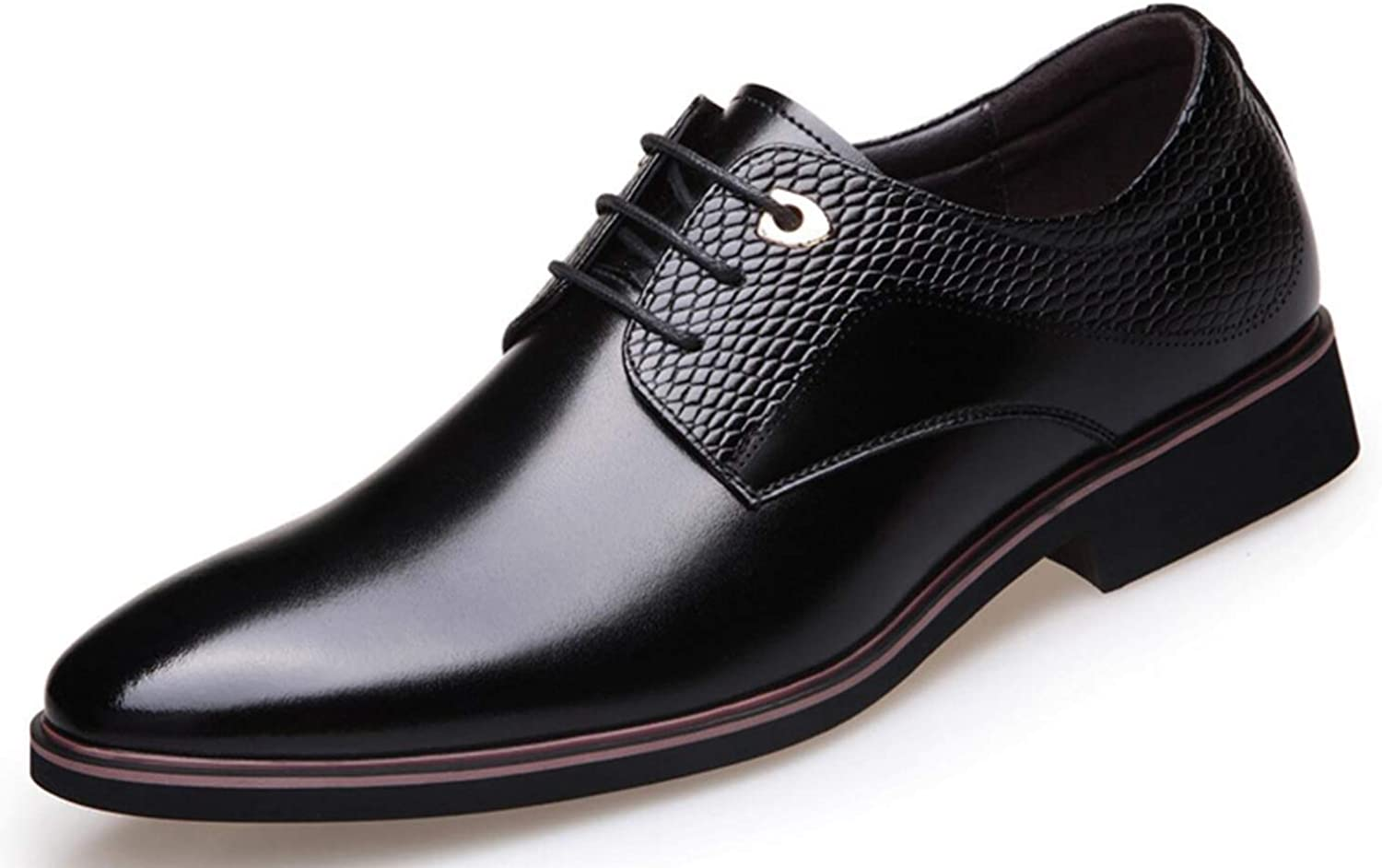 Shiney Men's shoes Business Dress Wedding Leather New England Dress Pointy Casual shoes