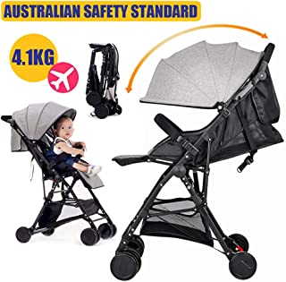 Baby City Tour Stroller Pram Compact Light Weight Folding Toddler Strollers Carrier Travel Umbrella Jogger (Gray)