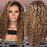 A-WIG Femmes Dégradé Marron Cheveux Longs Bouclés Perruques Blond Perruque Cheveux...