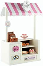 The Queen's Treasures Bake Concession Shoppe & Changeable Signs. Furniture Compatible with 18 Inch American Girl Doll Sales Counter Table,Canopy,Register,Money, Signs