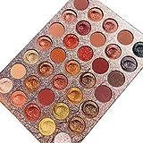 Paleta de sombras de ojos de 35 colores, paleta de maquillaje metálica mate y brillante, kits de maquillaje de sombra de ojos altamente pigmentados a prueba de agua