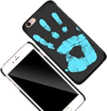 KOSBON Thermal Sensor Phone Case Heat Induction Color Changing Holster Ultra-thin Hard PC Anti-scratch Cover Protective Shell for for IPhone (Black to Blue, For iPhone 7 Plus 5.5