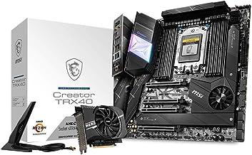 MSI Creator TRX40 Motherboard (AMD sTRX4, PCIe Gen4, M.2, USB3.2 Gen2x2, DDR4, 10G LAN, Wi-Fi 6, eATX)