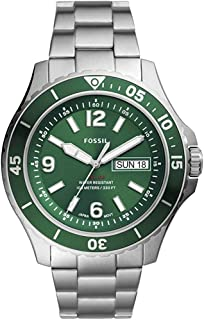 ساعة كوارتز من فوسيل، ساعة كاجوال للرجال من الستانلس ستيل FB-02