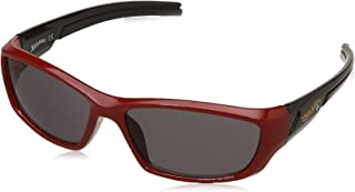 Hotwheels UV Protected Wrap-Around Boy's Sunglasses - (HOTO-1023-104/160_Red|53|Grey Color Lens)