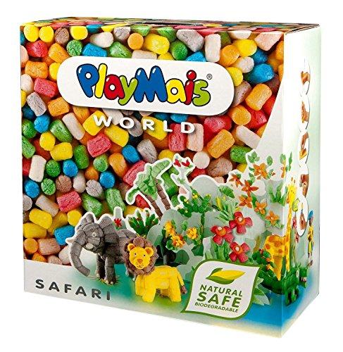 PlayMais WORLD Safari Bastel-Set für Kinder ab 5 Jahren | Circa 1.000 Stück, Vorlagen & Anleitungen zum Basteln | Geschenke für Kinder | Fördert Kreativität & Feinmotorik | Natürliches Spielzeug