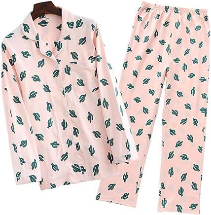 b81bf6fca1 Fuka Big Girls Teen Girls Cotton Cacti Sleepwear Long Sleeve Pajama Set