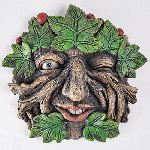 Fiesta Studios Tree Ent Face Wandschild, Motiv: Root-Berry, großer Garten, dekoratives Geschenk 14,5 cm
