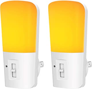 LOHAS Amber Night Light, Dimmable Plug in LED, Yellow Night Light with Dusk to Dawn Sensor, Kids Night Lights for Bedroom,...