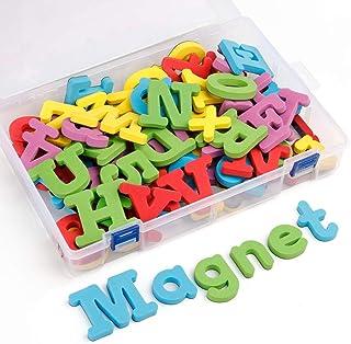 Coogam Números y Letras magnéticas de la Espuma 82 Piezas mayúsculas minúsculas minúsculas ABC 123