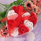 Y56 Rosen seife gastgeschenk 9Pcs duftende Rose Blütenblatt Bad Körper Seife Hochzeit Party...