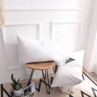 Dreamfine Jersey Pillow Cases Queen Size 20x26 Inch, Super Soft Cotton Pillow Cases 2 Pieces with Envelope Closure, White.