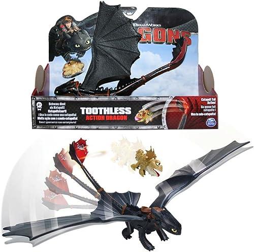 Dragons - Ensemble de jeu d'action - Catapult Krokmou Toothless & Meatlug