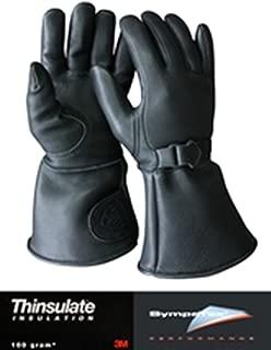 Churchill Mens Classic Gauntlet Motorcycle Gloves w/Thinsulate & Sympatex CGTW (Medium)