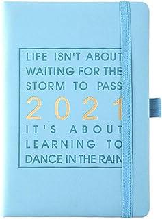 WEQQ 2021 English Internal Pages Planificador de Agenda Personal Agenda Notebook Planificador (Azul Cielo)