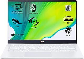"Acer Swift 5 SF514-54T - Ordenador Portátil táctil ultrafino 14"" FullHD (Intel Core i5-1035G1, 8GB RAM, 512GB SSD, Intel U..."
