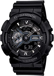 Casio G-Shock Watch For Men Quartz Analog-Digital Display and Resin Strap GA-110-1BDR